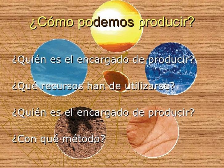 ¿Cómo po demos  producir? <ul><li>¿Quién es el encargado de producir? </li></ul><ul><li>¿Qué recursos han de utilizarse? <...