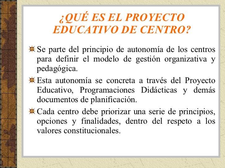 Tema 5 el proyecto educativo de centro for Proyecto educativo de comedor escolar