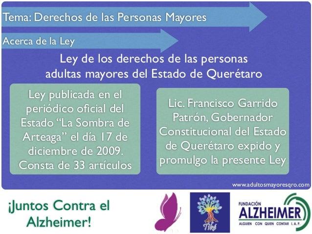 Tema ley de las personas adultas mayores del estado de for Sillon alto para personas mayores
