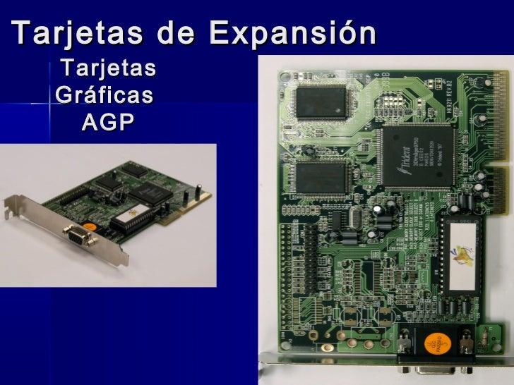 Tarjetas de Expansión  Tarjetas  Gráficas    AGP