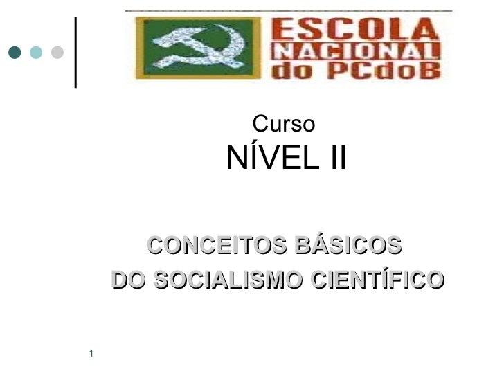 <ul><li>Curso NÍVEL II </li></ul><ul><li>CONCEITOS BÁSICOS  </li></ul><ul><li>DO SOCIALISMO CIENTÍFICO </li></ul>