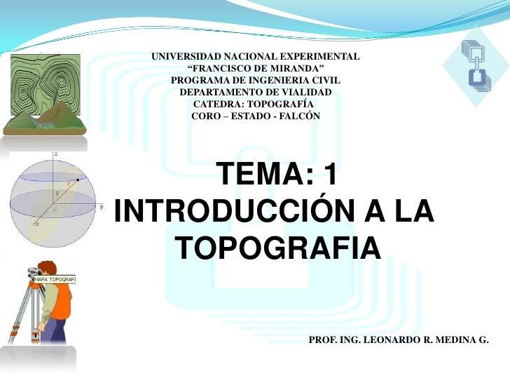 """UNIVERSIDAD NACIONAL EXPERIMENTAL       """"FRANCISCO DE MIRANDA""""    PROGRAMA DE INGENIERIA CIVIL     DEPARTAMENTO DE VIALIDA..."""