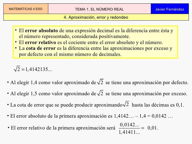 04.01 Los Numeros Reales