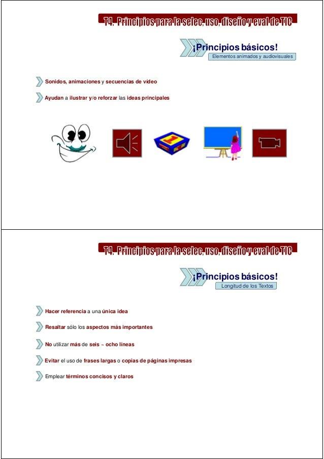 ¡Principios básicos!                                                                  Elementos animados y audiovisualesSo...