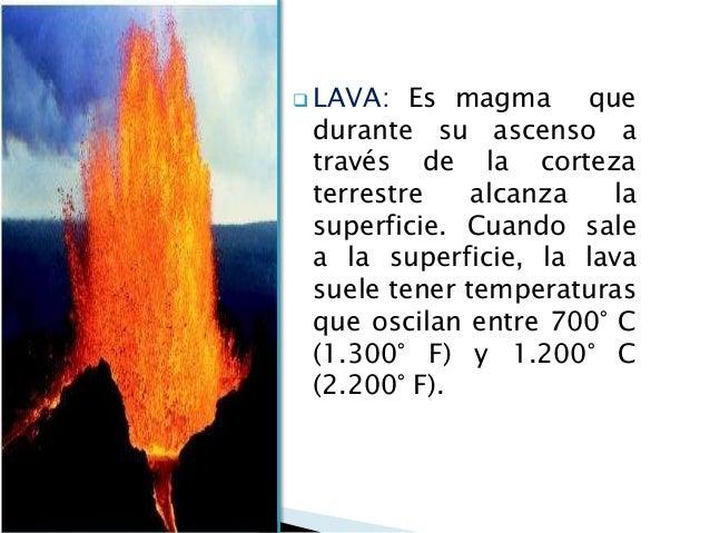 Tema 04 gg magmatismo for Temperatura lava