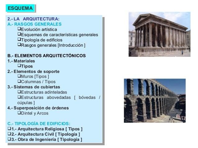 Tema 04 Arte Romano La Arquitectura