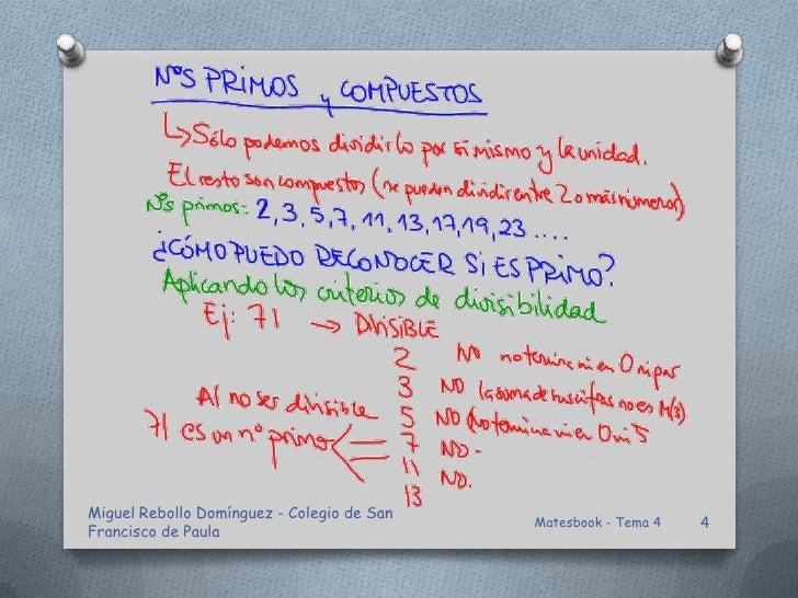 Miguel Rebollo Domínguez - Colegio de San                                            Matesbook - Tema 4   4Francisco de Pa...