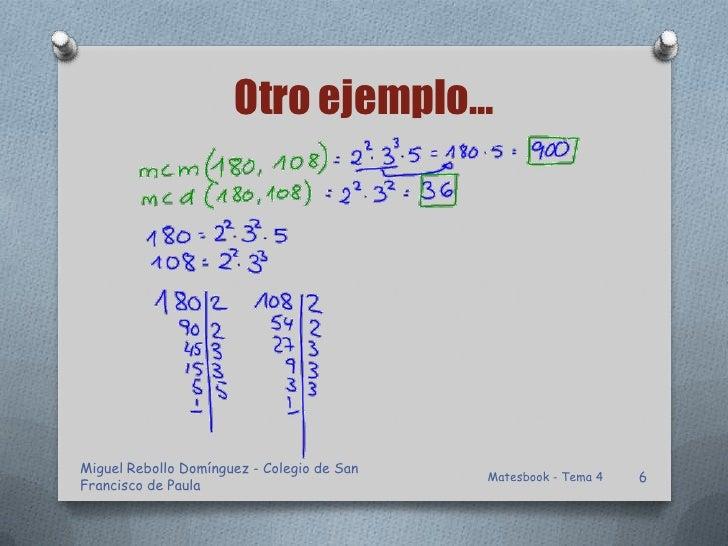 Otro ejemplo…Miguel Rebollo Domínguez - Colegio de San                                            Matesbook - Tema 4   6Fr...