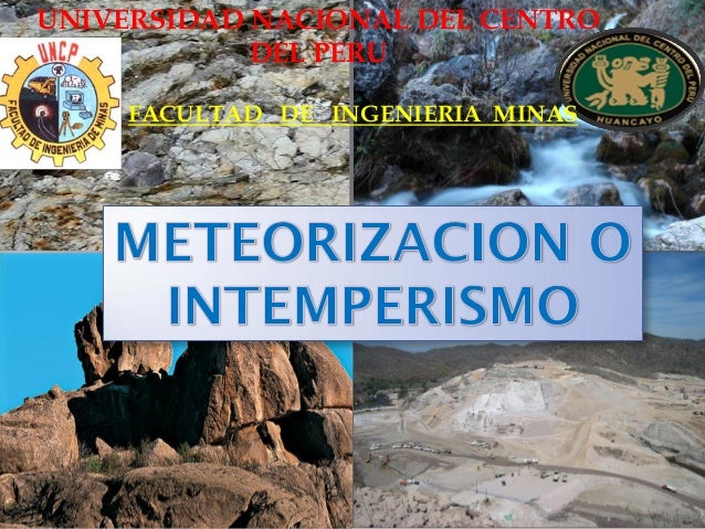 UNIVERSIDAD NACIONAL DEL CENTRO DEL PERU  FACULTAD DE INGENIERIA MINAS