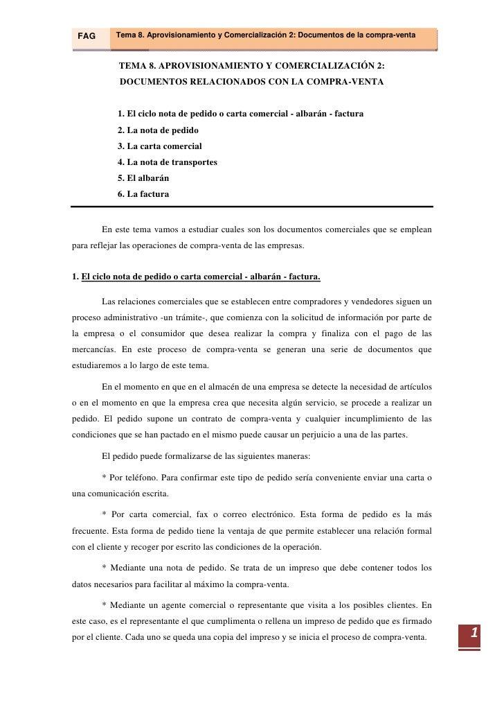 Tema 08  Aprovisionamiento Y ComercializacióN 2  Documentos Relacionados Con La Compraventa Slide 2