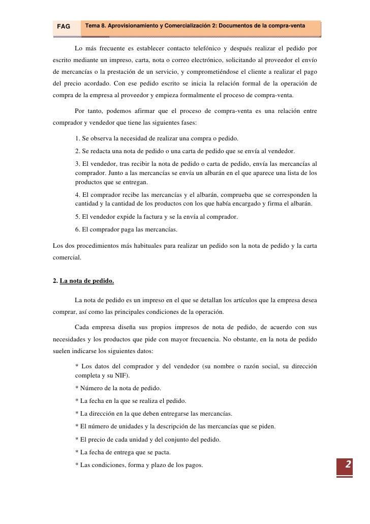 Tema 08  Aprovisionamiento Y ComercializacióN 2  Documentos Relacionados Con La Compraventa Slide 3
