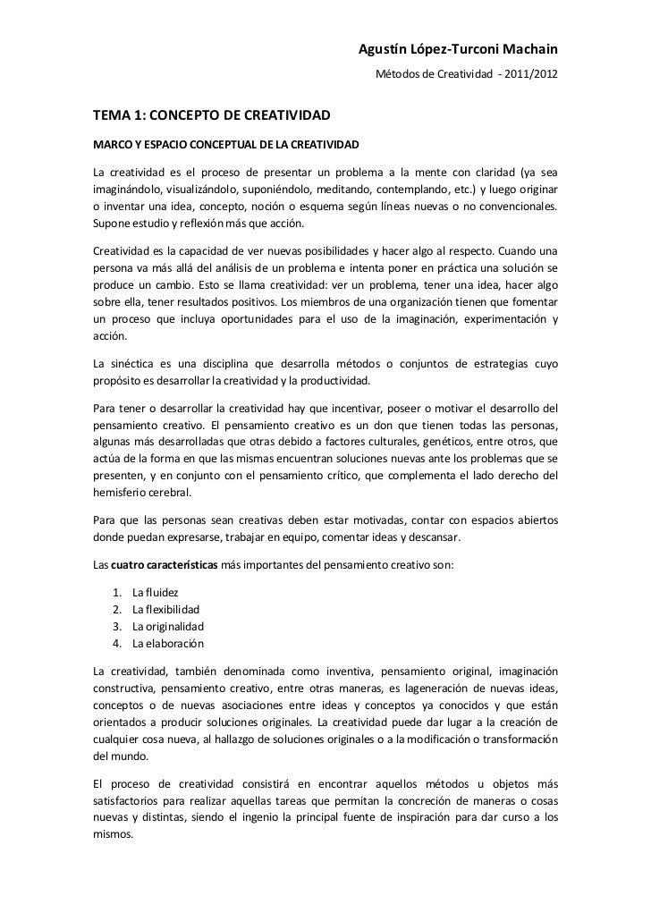 Agustín López-Turconi Machain                                                         Métodos de Creatividad - 2011/2012TE...