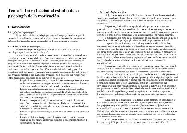Tema 1: Introducción al estudio de la                                                1.3.- La psicología científica:      ...