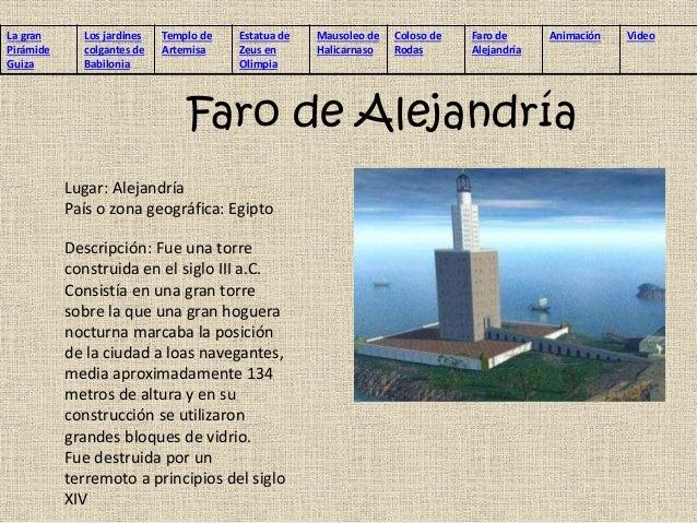 Resultado de imagen para PIRAMIDE EN LA CIUDAD DE ALEJANDRIA