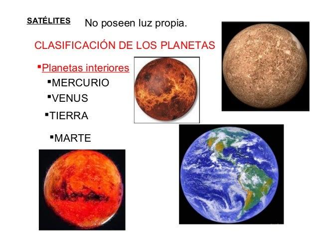 Tema 1 del universo a la tierra - Caracteristicas de los planetas interiores ...