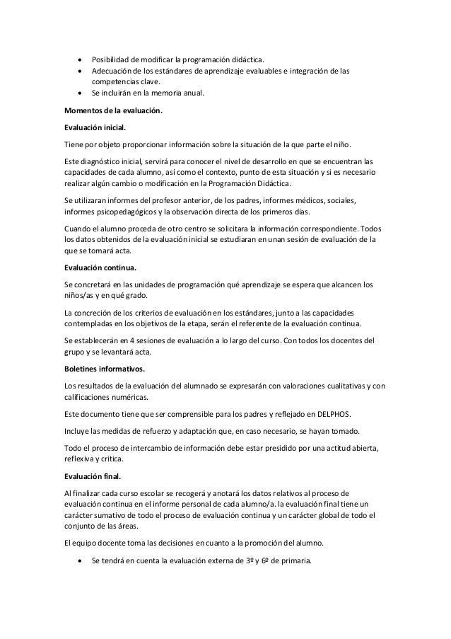  Posibilidad de modificar la programación didáctica.  Adecuación de los estándares de aprendizaje evaluables e integraci...