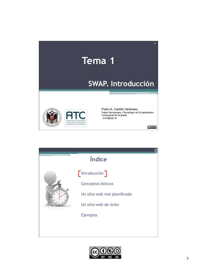 1 SWAP. Introducción Pedro A. Castillo Valdivieso Depto Arquitectura y Tecnología de Computadores Universidad de Granada p...