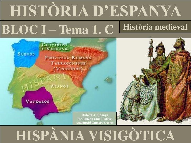 HISTÒRIA D'ESPANYABLOC I – Tema 1. C                    Història medieval              Història d'Espanya            IES R...