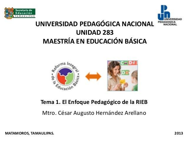UNIVERSIDAD PEDAGÓGICA NACIONAL                        UNIDAD 283               MAESTRÍA EN EDUCACIÓN BÁSICA              ...