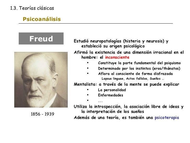 Psicoanálisis <ul><li>Estudió neuropatologías (histeria y neurosis) y estableció su origen psicológico </li></ul><ul><li>A...