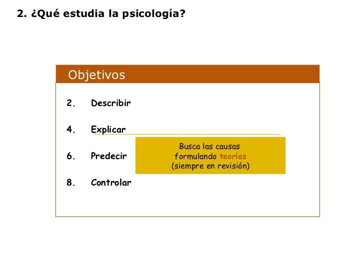 Objetivos  <ul><li>Describir </li></ul><ul><li>Explicar </li></ul><ul><li>Predecir </li></ul><ul><li>Controlar </li></ul>B...