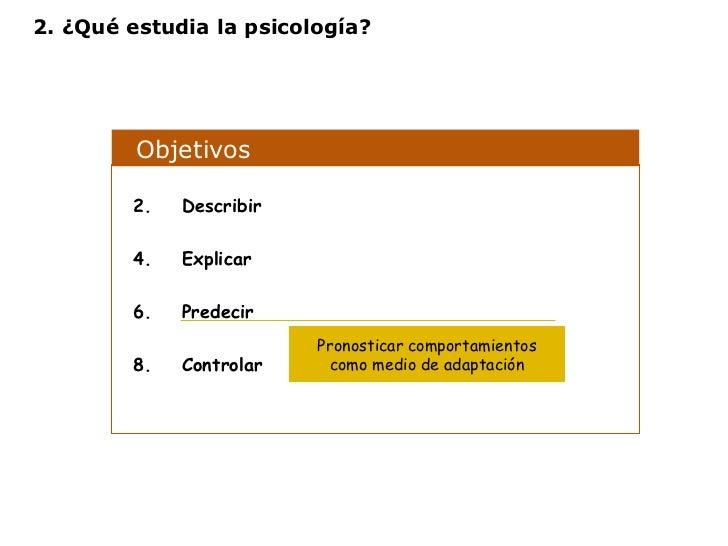 Objetivos  <ul><li>Describir </li></ul><ul><li>Explicar </li></ul><ul><li>Predecir </li></ul><ul><li>Controlar </li></ul>P...