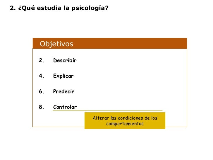 Objetivos  <ul><li>Describir </li></ul><ul><li>Explicar </li></ul><ul><li>Predecir </li></ul><ul><li>Controlar </li></ul>A...