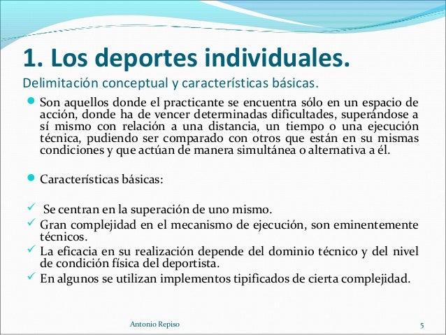 fb1865d3677d1 Antonio Repiso 4  5. 1. Los deportes individuales.