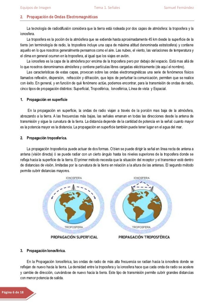 Equipos de Imagen                                    Tema 1. Señales                                   Samuel Fernández   ...
