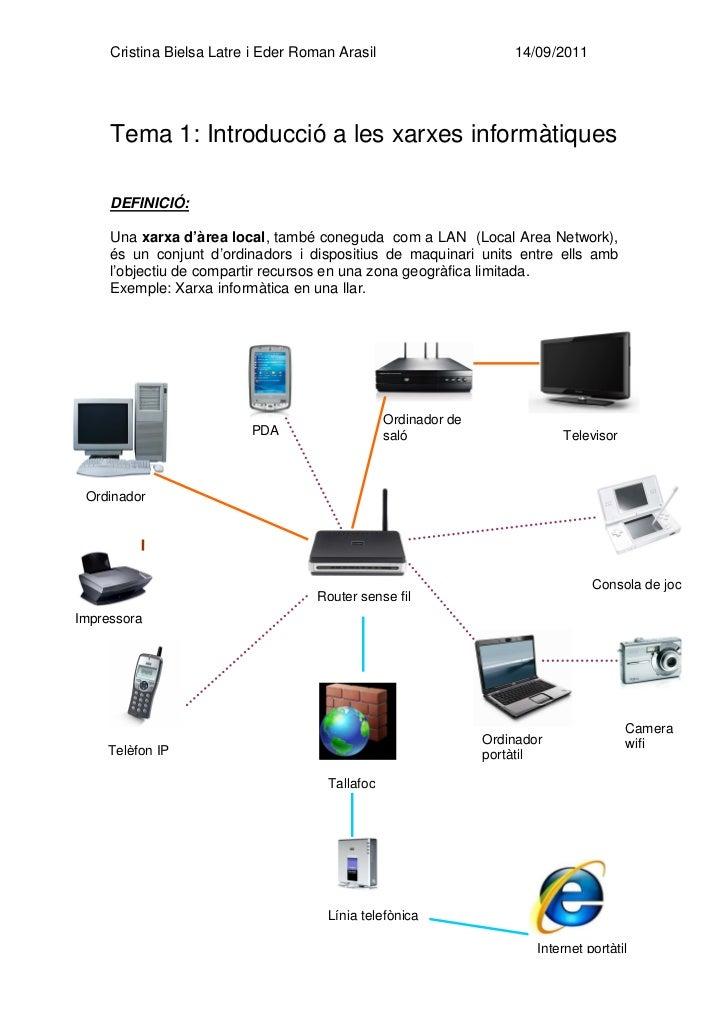 Cristina Bielsa Latre i Eder Roman Arasil                      14/09/2011     Tema 1: Introducció a les xarxes informàtiqu...