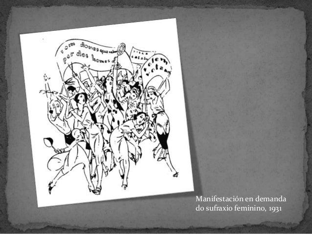 Manifestación en demandado sufraxio feminino, 1931