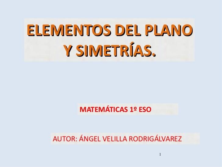 Tema 10. Elementos del plano