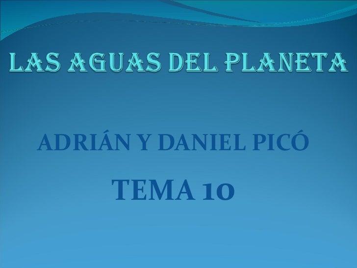 ADRIÁN Y DANIEL PICÓ TEMA  10