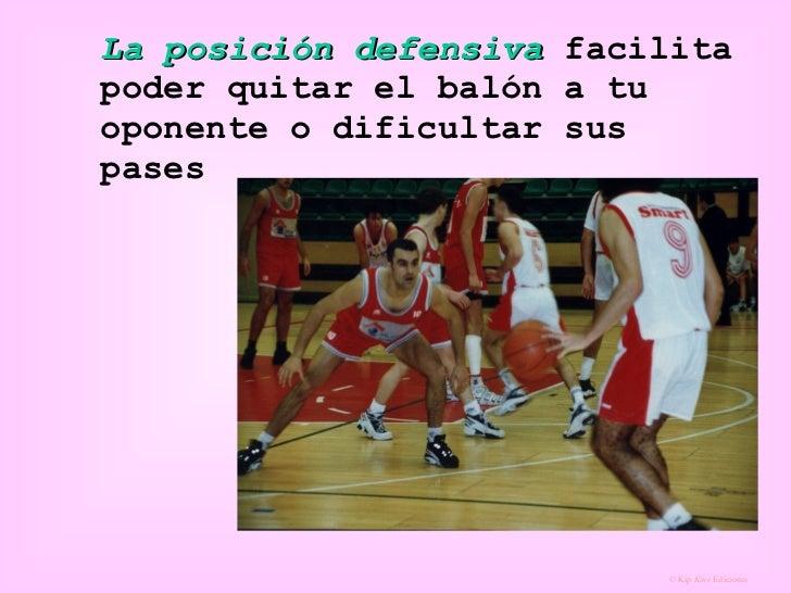 La posición defensiva  facilita poder quitar el balón a tu oponente o dificultar sus pases