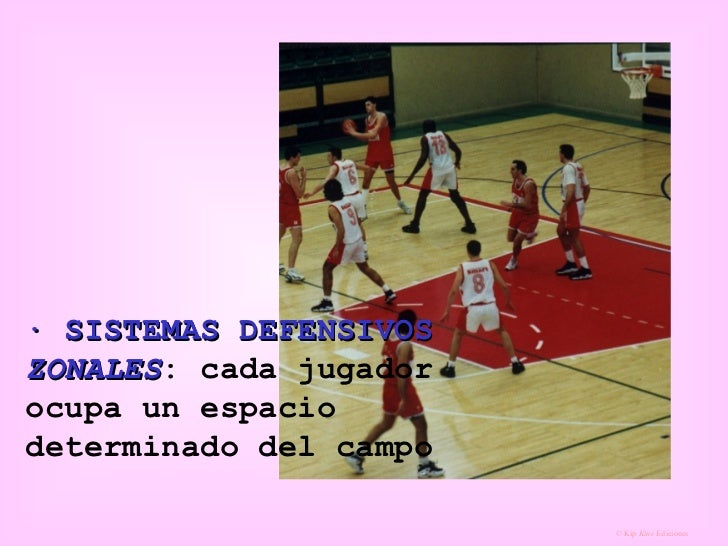 · SISTEMAS DEFENSIVOS  ZONALES : cada jugador ocupa un espacio determinado del campo