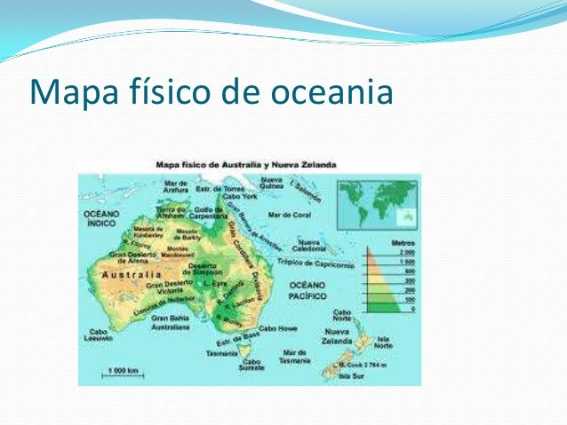 Mapa De Oceania Fisico En Español.Tema 10 Cono