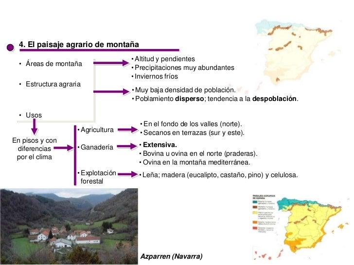 4. El paisaje agrario de montaña                                    • Altitud y pendientes  • Áreas de montaña            ...