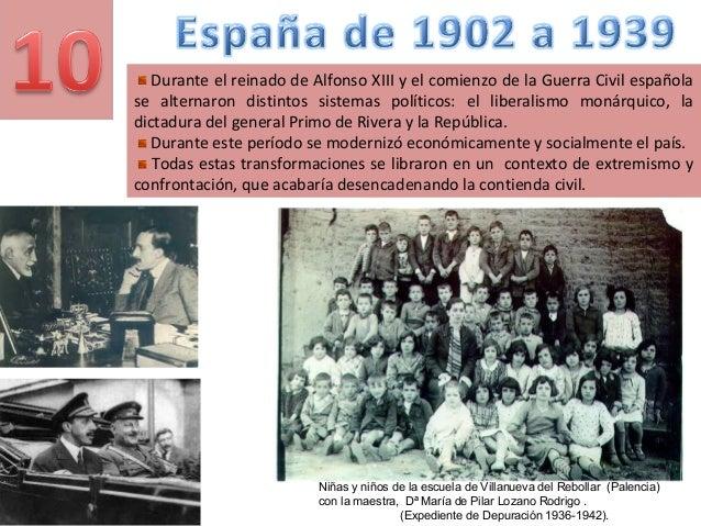 Durante el reinado de Alfonso XIII y el comienzo de la Guerra Civil española se alternaron distintos sistemas políticos: e...