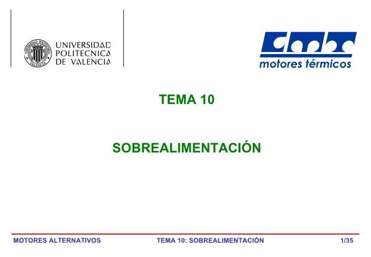 /35 TEMA 10 SOBREALIMENTACIÓN