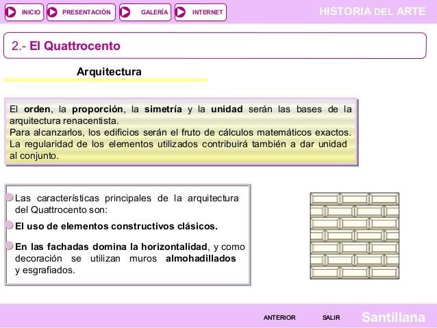Tema 11 el renacimiento italiano el manierismo Arquitectura quattrocento caracteristicas