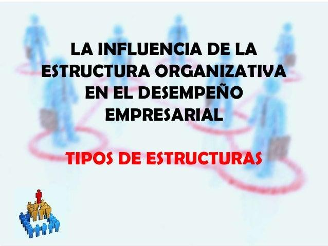 LA INFLUENCIA DE LA ESTRUCTURA ORGANIZATIVA EN EL DESEMPEÑO EMPRESARIAL TIPOS DE ESTRUCTURAS