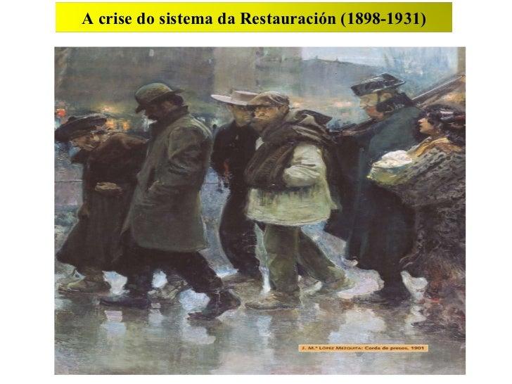 11 A crise do sistema da Restauración (1898-1931)
