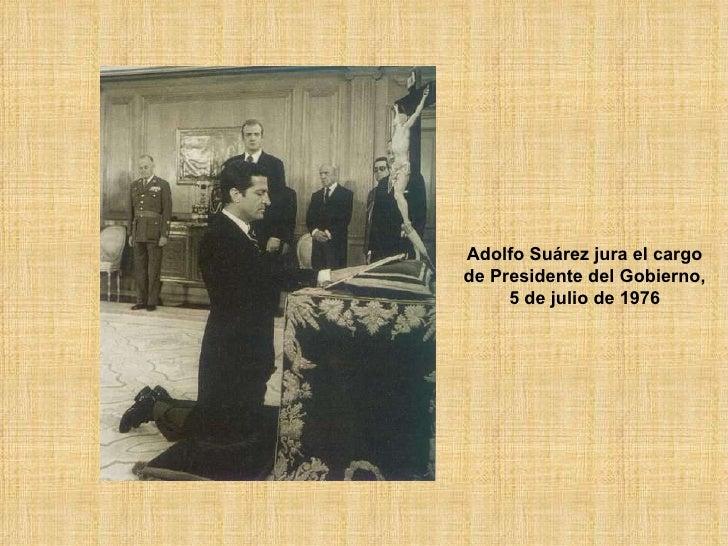 Adolfo Suárez jura el cargo de Presidente del Gobierno, 5 de julio de 1976