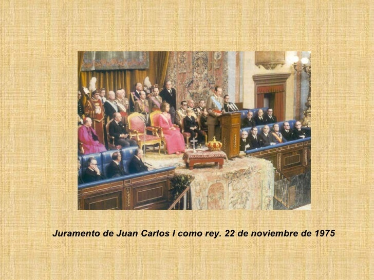 Juramento de Juan Carlos I como rey. 22 de noviembre de 1975