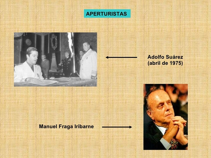 APERTURISTAS   Manuel Fraga Iribarne Adolfo Suárez (abril de 1975)