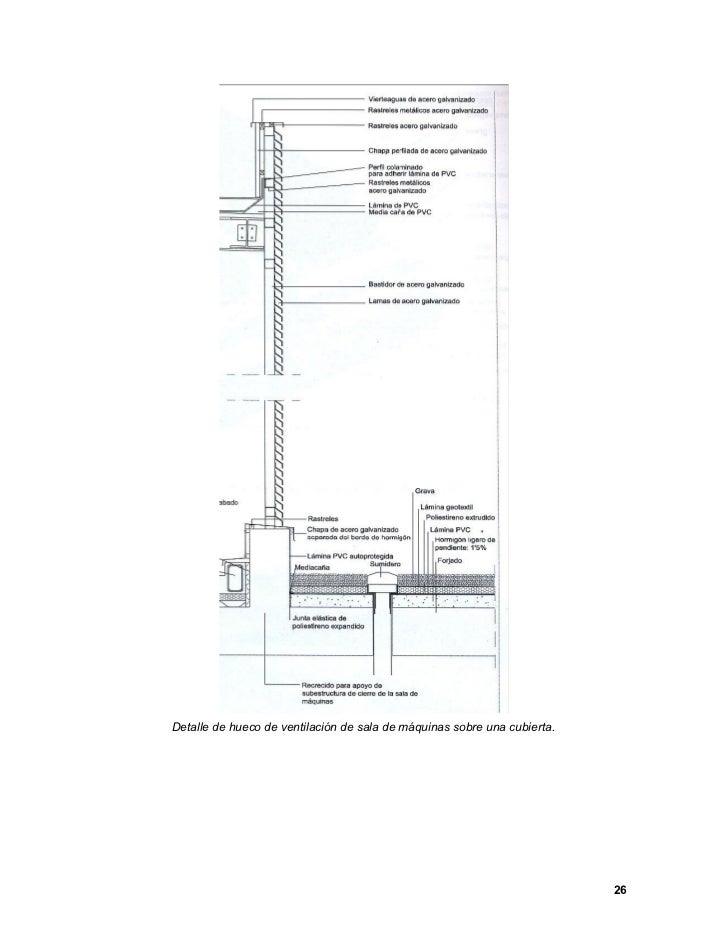 Cubiertas planas for Detalle barandilla vidrio