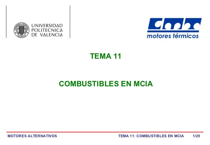 /29 TEMA 11 COMBUSTIBLES EN MCIA