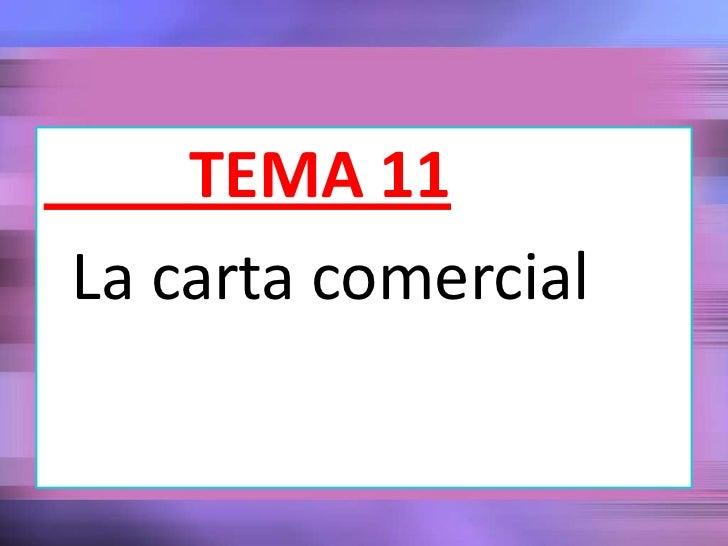 TEMA 11La carta comercial