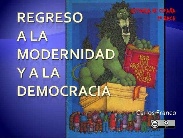 Carlos Franco HISTORIA DE ESPAÑA 2º BACH