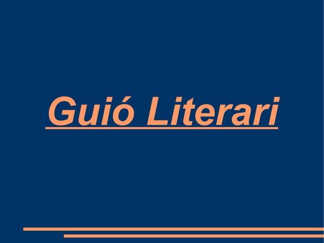 Guió Literari